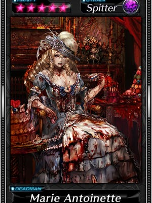 "Marie Antoinette is one of the many zombie characters who can be collected in ""Deadman's Cross."""