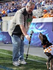 Scott Utterback has a little GoPro fun with Smokey as Kentucky takes on Tennessee at Commonwealth Stadium.