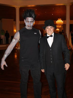 "The Vampire Ball featured a performance by Kingston High School student Andrew Hoben as Dr. Frederick Frankenstein and Eric Oloffson as the monster from ""Young Frankenstein."""