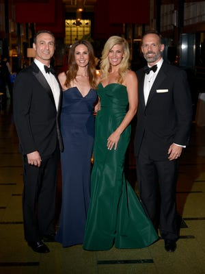 Adam Dretler, Julie Dretler, Betsy Wilt and T.J. Wilt attend the 2017 Frist Gala on April 22, 2017. Julie Dretler and Betsy Wilt are the co-chairs of the event this year. The theme for the annual fund raiser draws from the Frist Center's presentation of Secrets of Buddhist Art: Tibet, Japan, and Korea from the Newark Museum in New Jersey.
