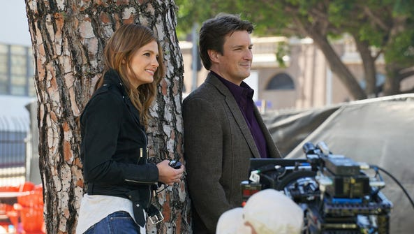 Stana Katic, left, and Nathan Fillion star in ABC's
