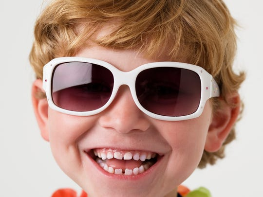 Make sure kids wear sunglasses with UVA and UVB protection.