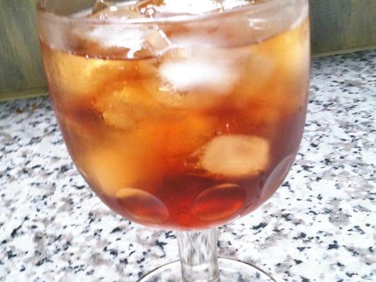 goblet of iced tea