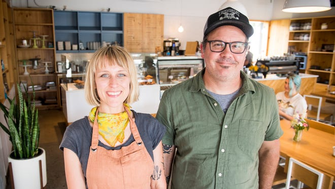 Meg and Shaun Parish, pictured here inside Wild Love Bakehouse on Thursday, June 14, 2018, own Wild Love Bakehouse as well as Old City Java and Pearl on Union in downtown Knoxville.