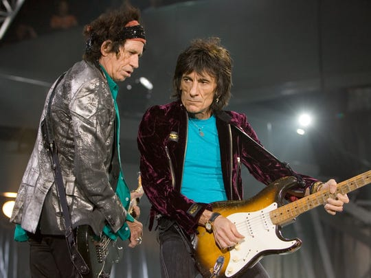 Keith Richards and Ron Wood performed with the Rolling Stones in Glendale in 2006.