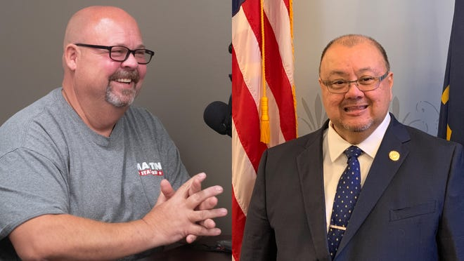 Republican Michael Martin, left, and Democrat John Alcala, right, are running for the 57th District seat Alcala holds in the Kansas House of Representatives.