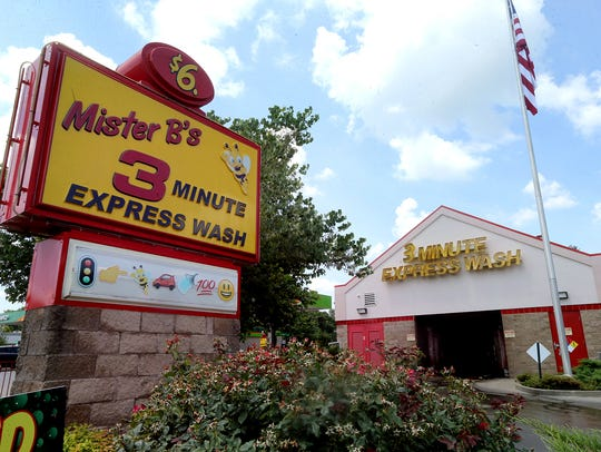 The Mister B's Express Wash on Memorial Boulevard is