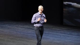 Apple CEO Tim Cook at event in San Francisco