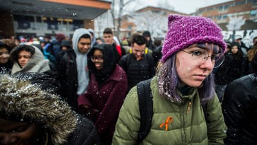 Despite snow, some Vermont students forge ahead with Walkout Day rallies