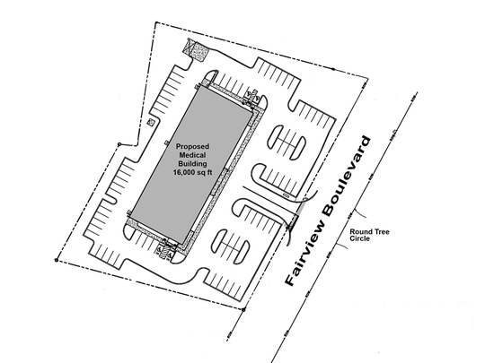 Proposed plans for the Fairview Medical Building in the 2300 block of Fairview Blvd.