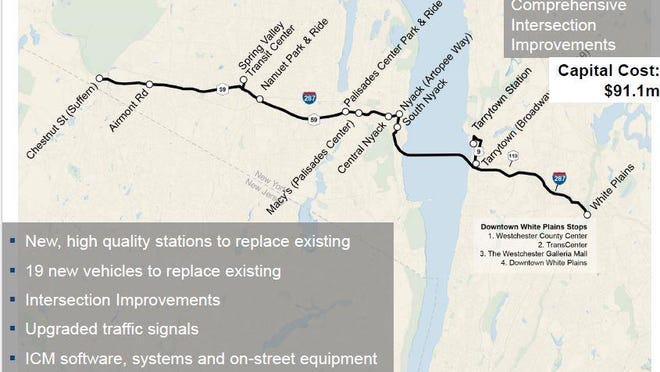 The state estimates it will cost $91 million to morph the existing Tappan Zee Express bus service into a modernized system, featuring new buses and stations.