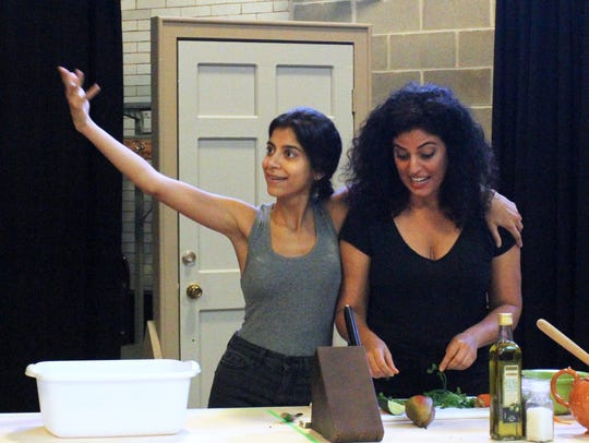 Nikita Tewani (left) and Soraya Broukhim portray sisters