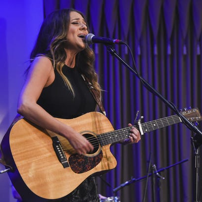 Country singer Courtney Cole performs in her home state