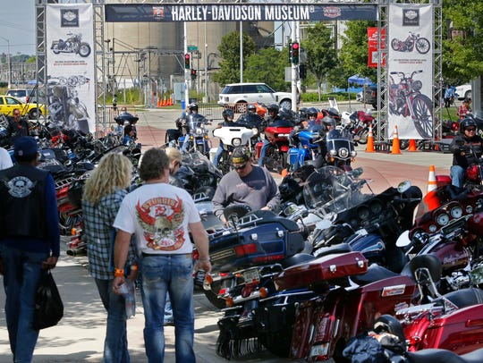 Harley riders descend on the Harley-Davidson Museum