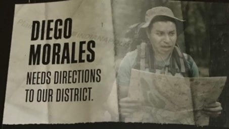 This mailer, paid for by a super PAC called Citizens for a Strong America, has Diego Morales accusing rival Steve Braun of a political hit in the GOP primary in Indiana's 4th District.