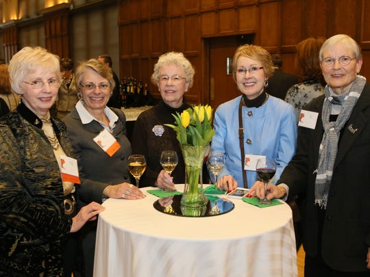 Martha Chiscon, Barbara Clark, Persis Newman, Jane Smith and Mary Owen