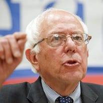 Democratic presidential candidate Sen. Bernie Sanders speaks at Morningside College in Sioux City, Iowa on Thursday.