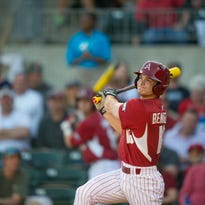 Arkansas sophomore Andrew Benintendi, a 2013 Madeira High School graduate, leads the NCAA with 14 home runs (as of April 18).