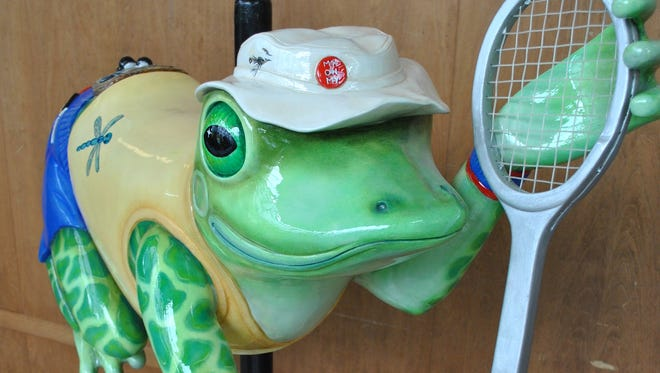 Mr. Hopkins, a whimsical carved frog, will be added to Salem's Riverfront Carousel on Saturday, May 31.