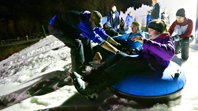 Opening day at AvalancheXpress Snow Tubing at Heritage Hills in Springettsbury Township, Thursday, Dec. 21, 2017. Dawn J. Sagert photo