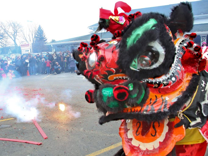 The ShaoLin Center in Waukesha brought Lion Dancers