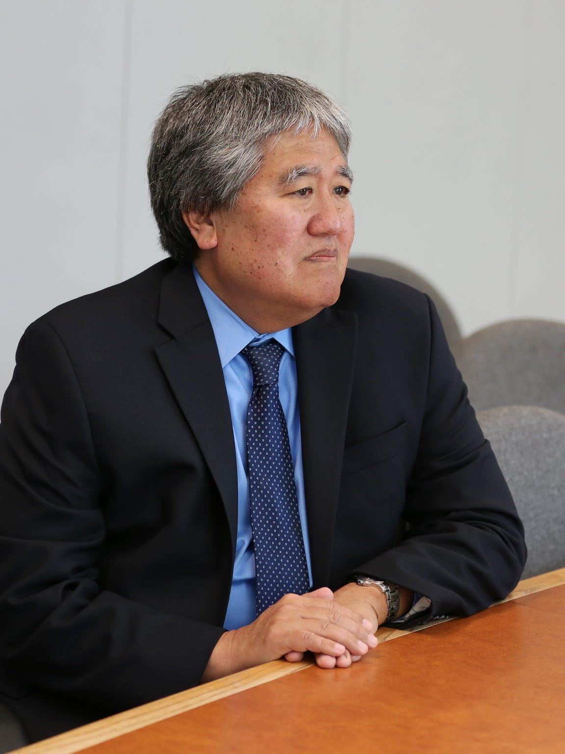 Clyde Saiki, Director of Oregon Department of Human Services, meets with the Statesman Journal for an interview on Wednesday, April 20, 2016, in Salem.
