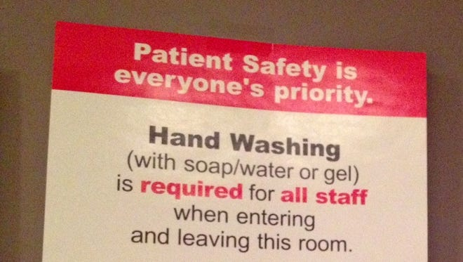 A study found that hand-washing by health care providers decreases over a shift and is affected by workload.