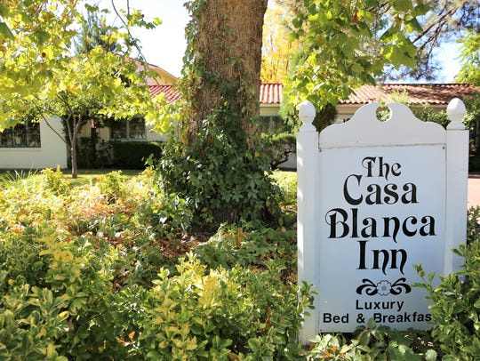 The Casa Blanca Inn and Suites at 505 E. La Plata St.