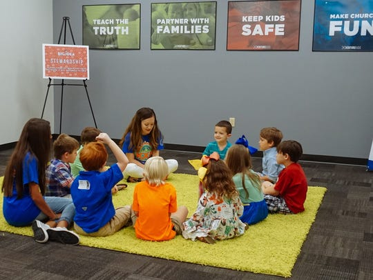 Children meet in Venture Church's new Stone County