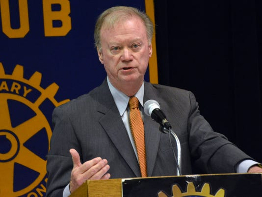 ANI Rotary Tom Schedler, Louisiana Secretary of State, speaks about the upcoming elections at the Rotary Club of Alexandria Tuesday, Oct. 28, 2014.-Melinda Martinez/mmartinez@thetowntalk.com, The Town Talk, Gannett