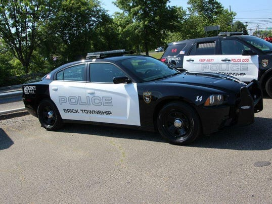 brick police car