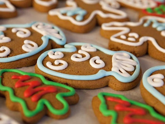Crooked tree decorated cookies