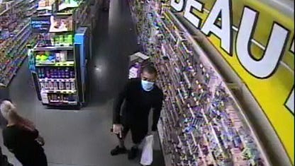 One of two suspects sought for an armed robbery at the Dollar General store on Alabama Avenue in Lehigh Acres on Saturday.