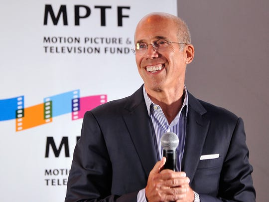 CEO of DreamWorks Animation Jeffrey Katzenberg speaks at the MPTF NextGen launch at NeueHouse Los Angeles on Wednedsday, in Hollywood.