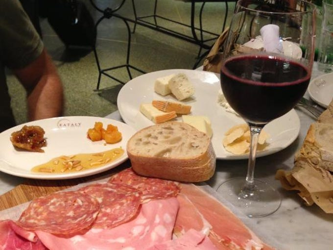 Osteria Tulia's Vincenzo Betulia snapped this picture of a platter of salumi and cheeses from Eataly in Manhattan.