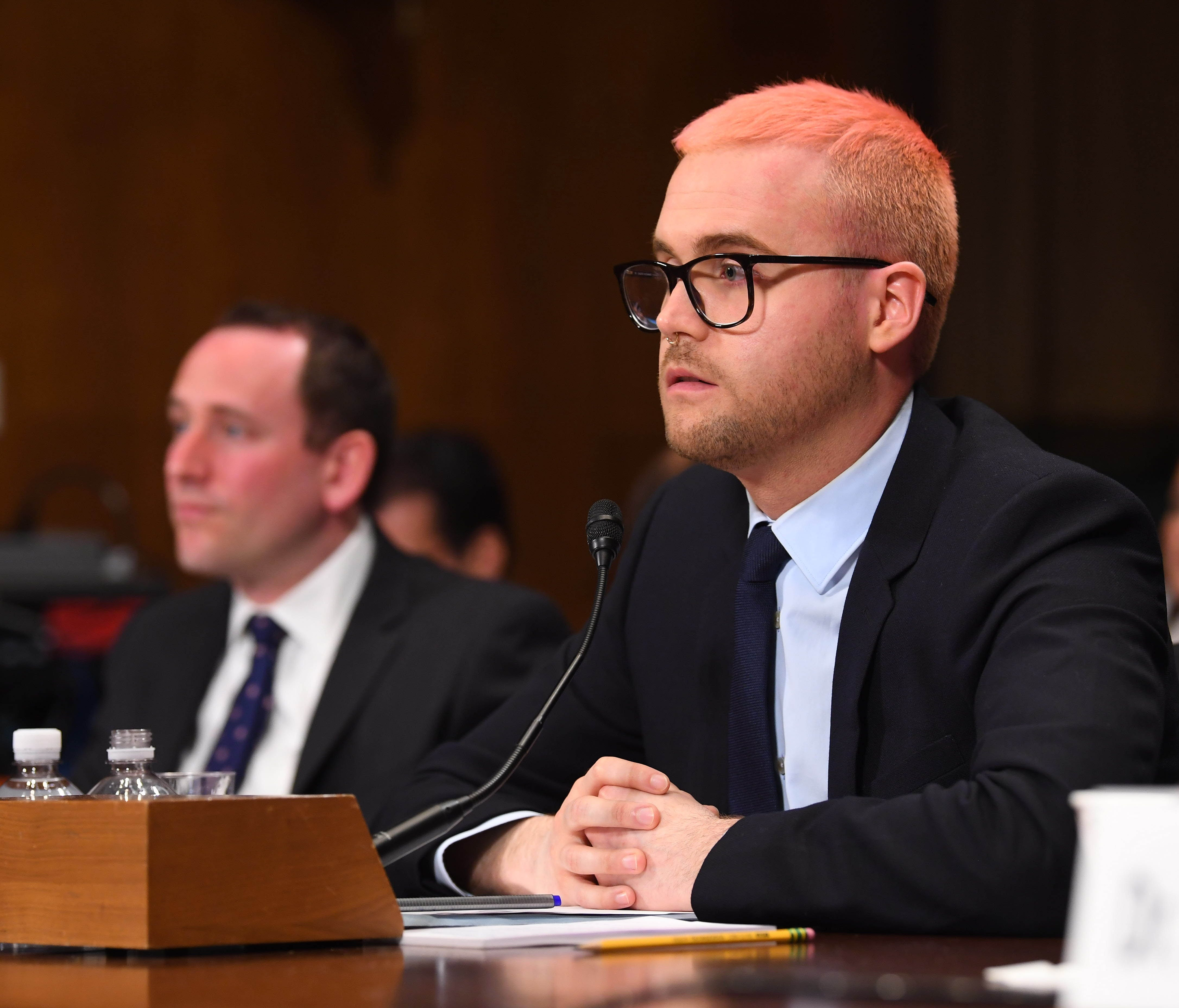Christopher Wylie testifies on Capitol Hill.