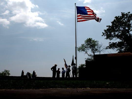 Korean War vets attend Flag Day in Fort Lee Historic