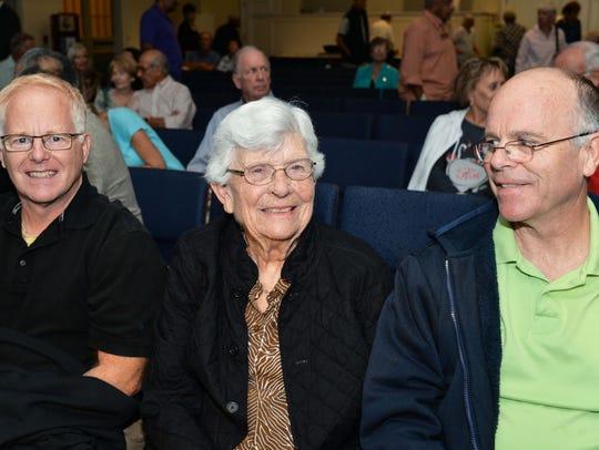 Guthrie Paca, left, and Cornelia and Joe Lahey getting