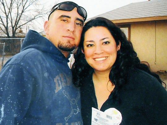 Jerome Saiz with his sister Molly Saiz in 2007.