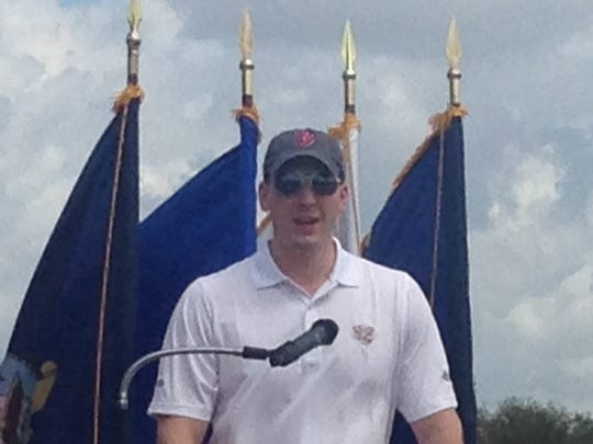 U.S. Army Staff Sgt. Ryan M. Pitts, who received the Medal of Honor in 2014 for his heroic actions in the battle of Wanat, Afghanistan, was a special guest for a weekend event helpoing wounded veterans.