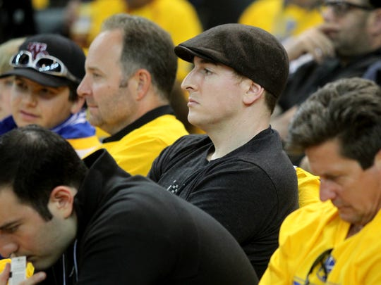 May 3, 2015 -   Memphis Grizzlies controlling owner Robert Pera watches the Grizzlies play Golden State Warriors during Game 1 at Oracle Arena. (Nikki Boertman/The Commercial Appeal)