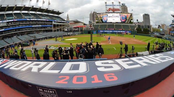 MLB: World Series-Workouts