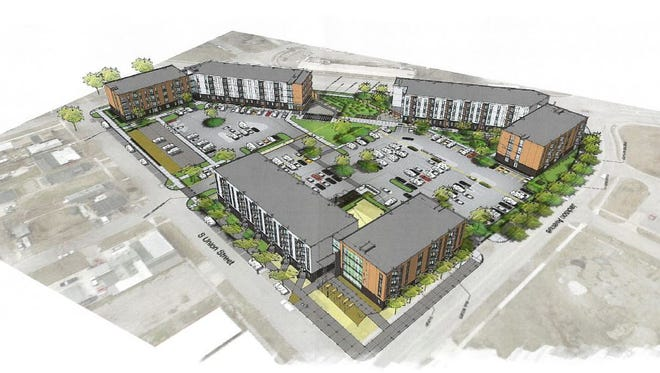 Jackson Crossing will feature 244 apartments near Indianola Avenue and Jackson Street south of downtown Des Moines.