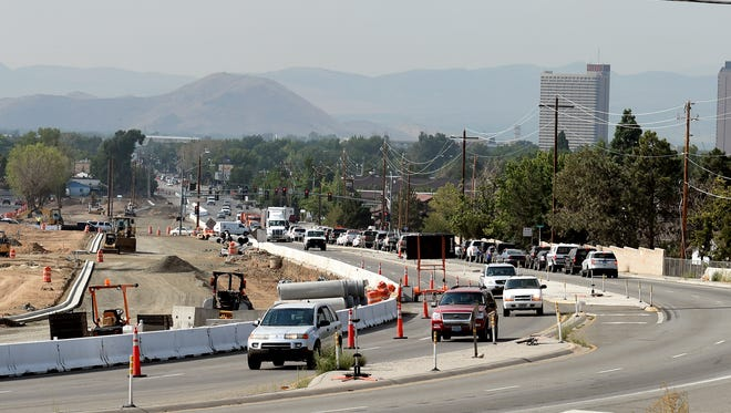 Work continues on the expansion of the Pyramid Way and McCarran Boulevard intersection in Sparks.