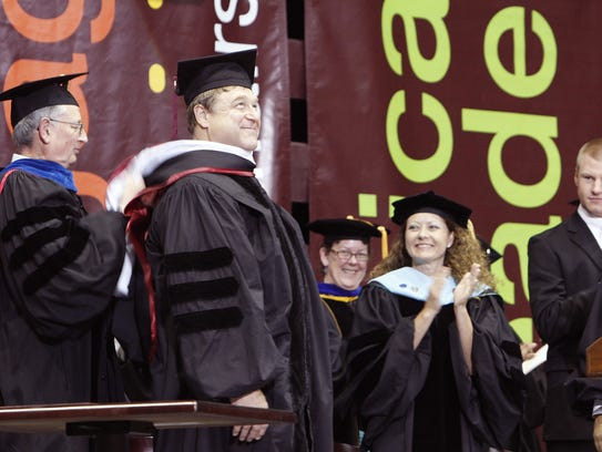 John Goodman receives his honorary doctorate at Missouri