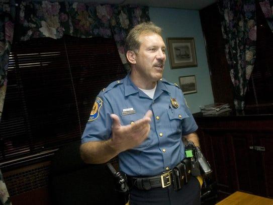 Newport Police Chief Mike Capriglione pictured in 2008.