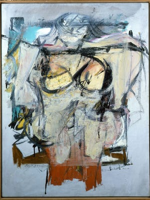 "This oil painting, called the ""Woman-Ochre"" by Willem de Kooning, has been missing since being taken from the University of Arizona Museum of Art in 1985."