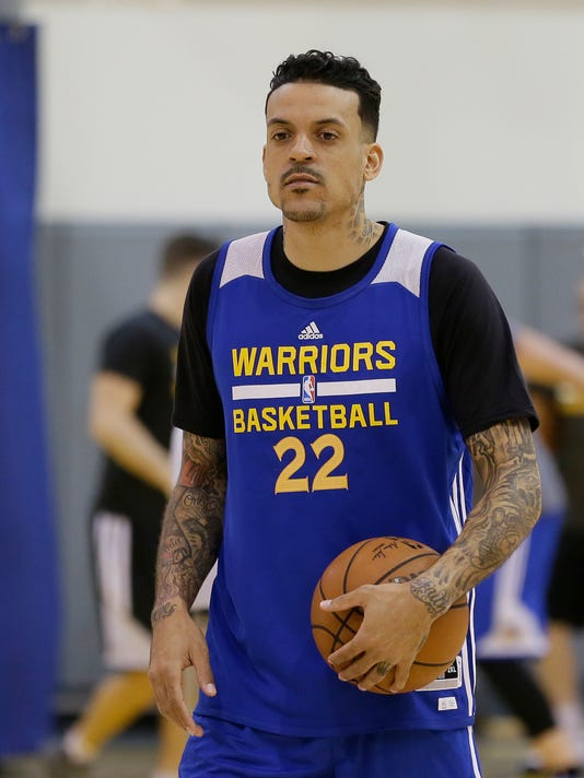 best loved 28354 7c7e9 Matt Barnes thrilled to be back with playoff-bound Warriors