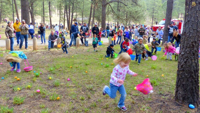 See the Easter bunny and enjoy area Easter egg hunts around the community.