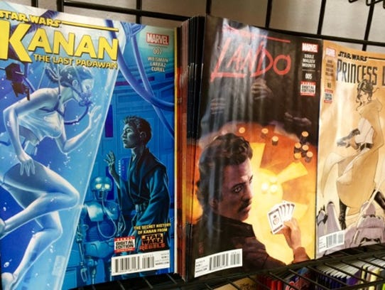 Just a few of the new Star Wars comics released by